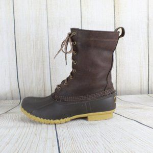 """LL Bean Duck Boots 10"""" Lace Up Hiking Shoes"""